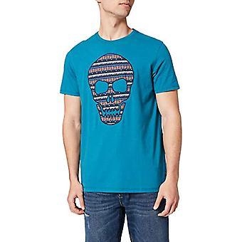 Springfield Camiseta Calavera T-Shirt, Blue/Duck, XL Men's