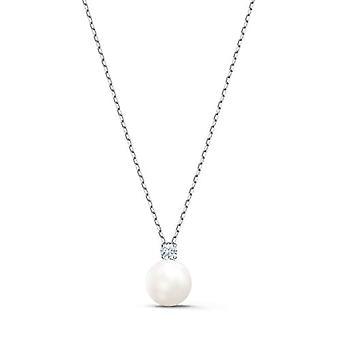 Swarovski Treasure Pearl halskæde, hvid, Rhodium forgyldt