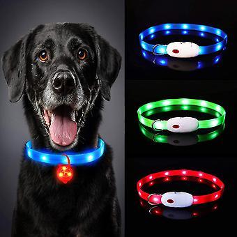 Leuchthalsband Hund Aufladbar, LED Hundehalsband Leuchtend wasserdicht Längenverstellbar USB,