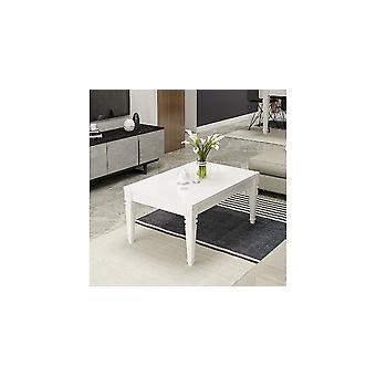 Table basse de Caffe' Valeria Couleur Blanc, en Broyeur Melmainico L90xP60xA45 cm