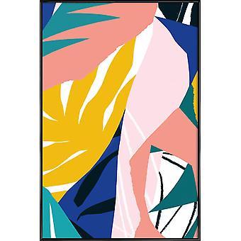 IMPRESSION JUNIQE - Maison botanique - Affiche abstraite et géométrique en couleur