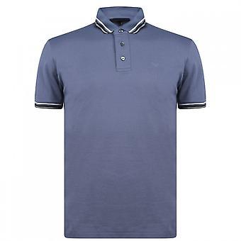 Emporio Armani Cotton Pebble Grey Polo Shirt