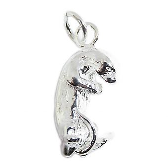 Otter Sterling Silver Charm .925 X 1 Otters Charms - 15340