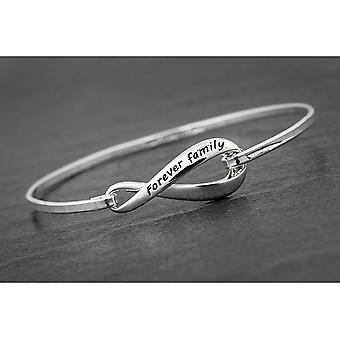 Eternal Love Silver Plated Bangle Family