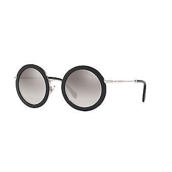 Miu Miu SMU59U 1AB5O0 Negro/Gradient Gris Espejo Gafas de Sol Plateadas