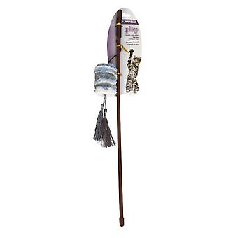 Nayeco Soft Wool Rod With Mouse (Cats , Toys , Teaser Wands)