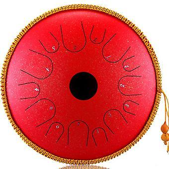 Teräksinen kielirumpu 14 tuumaa 14-sävyinen rumpu käsikäyttöinen säiliö rumpu lyömäsoittimena jooga meditaatio aloittelijan käsipanta