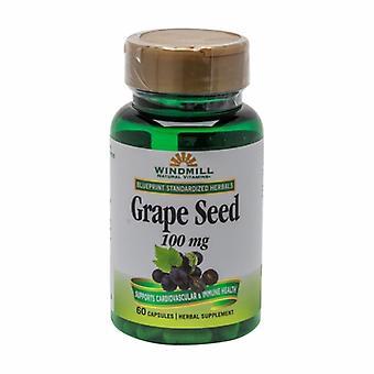 Windmill Health Grape Seed Oil, 100 mg, 60 Caps