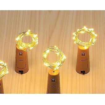 3Pcs الأخضر 20led إكليل النحاس سلك كوركر سلسلة أضواء خرافية لزجاجة الحرفية az12140