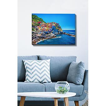 Kanvas Tablo (50 x 70) - 159 flerfärgade dekorativa dukmålning