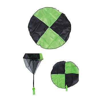 3pcs faldskærm legetøj børns flyvende legetøj til børn gaver (grøn)