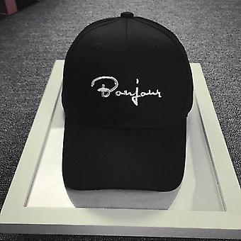 Casual Baseball Hat Borduurwerk Letter-print Verstelbare Hip-hop Cap Casquette