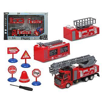 إطفاء حريق سيارة الإنقاذ (43 × 27 سم)