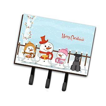 Caroline's Treasures Merry Christmas Carolers Miniatura Schanuzer Black Leash Or Key Holder Bb2382Th68, Triple, Multicolor