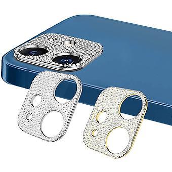 【2 Stück】 Diamant Kamera Linse Schutzfolie Kompatibel mit iPhone 12 Mini, Anti-Kratzer Bling