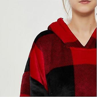 Lazy Blanket Hooded Blanket Sweatshirt Wear-resistant Blanket Men And Women Robe(Hg)