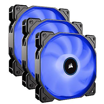 Corsair AF High Airflow Low Noise Blue LED Cooling Fan - 120mm - Triple Pack