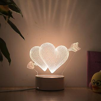 Romantic love 3d lamp heart-shaped balloon  led night light decorative table lamp valentine's day sweetheart wife's gift