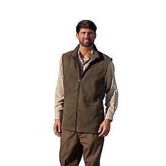 Champion Mens Portree Fleece Bodywarmer Faux Suede Trim - Oliwkowy - Duży