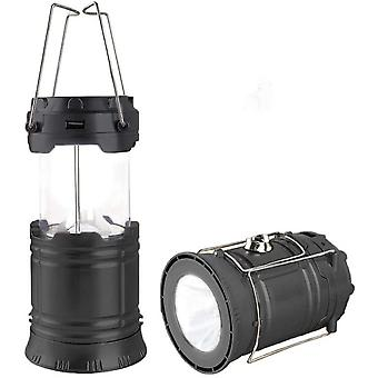 Solar Camping Light Foldable Led Flashlight Rechargeable Horse Lantern Outdoor Hiking Lamp