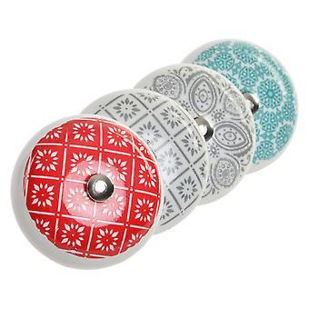 Doorknob DKD Home Decor Kakel Metall Keramisk Arab (8 st)
