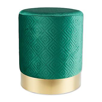 Accent Plus Vanity Stool with Gold Base - Green, Pack of 1