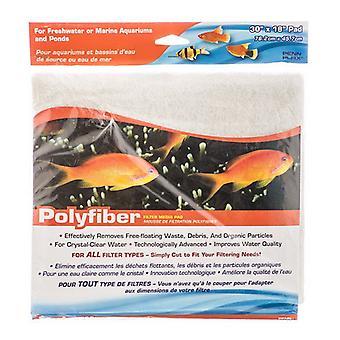 Penn Plax Polyfiber Filter Media Pad - 18» de long x 30» de large