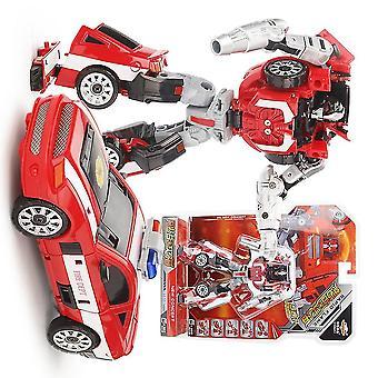Deformation Robot Car Transformation Toy Fire Dept