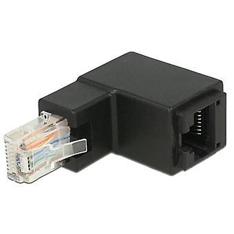 Adaptador RJ45 enchufe en ángulo > conector RJ45 Cat.6 UTP