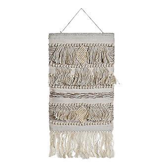 Hanging decoration DKD Home Decor Jute Cotton Wool (51.5 x 2 x 118 cm)