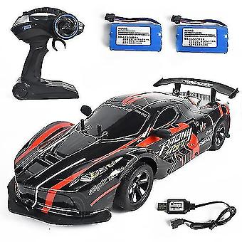 Robotic toys rc racing car 1:10 2.4G 4wd 25km/h drift high speed off road crawler 2 batteries remote control