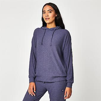 USA Pro Womens Ribbed Loungewear Hoodie Hooded OTH Long Sleeves Casual Top