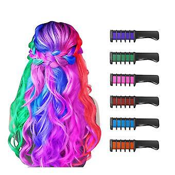Peigne à craie temporaire colorant de couleur de cheveux brillant pour enfant