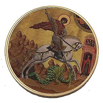 רוסיה סנט ג'ורג' הורג את סדרת הדרקון מצופה מטבעות אוסף מובלט תג מובלט מטבע מדליית מטבע זהב