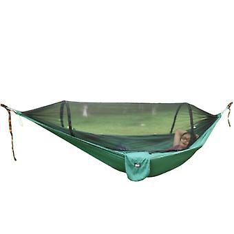 ハンモックアウトドアアンチ蚊サンシェードスピードオープンフルネットダブルポータブルピクニックスイング(シェードクロスなし) 270 *140cm