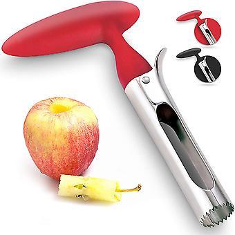 Köksverktyg Äppelkork Multifunktionell Fruktkork Rostskydd och Lätt att rengöra (röd)