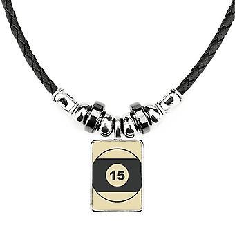 Športový biliard Jednoduchý geometrický vzor náhrdelník