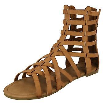 Ladies Savannah Aztec Cut Out Detail Sandals