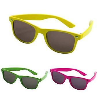 Óculos de nerd de óculos Wayfarer poupar néon óculos óculos