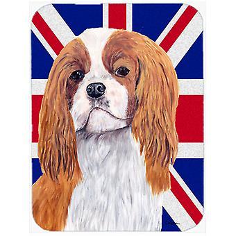 Cavalier Spaniel anglais Union Jack drapeau britannique verre grande planche à découper