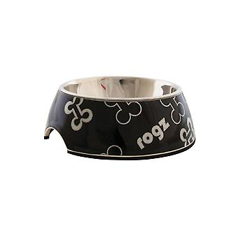 Rogz Lapz Trendy Bubble Bowl zwarte botten