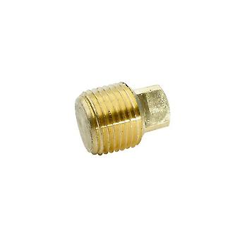 "BrassFittings 1018 0.5"" Pipe Plug Square Head 109F"