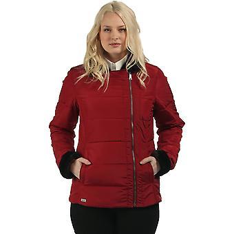 Regata das mulheres/senhoras Wren isolado peles colarinho acolchoado jaqueta