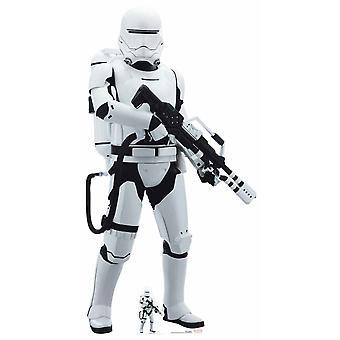 Flametrooper Star Wars siste Jedi Lifesize pappen avskårne / Standup