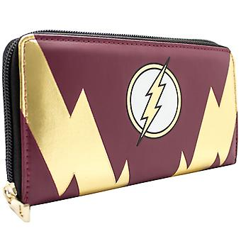 DC Comics Flash gouden Lightning Bolt munt & kaart Clutch portemonnee
