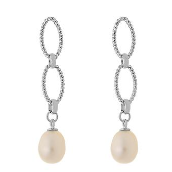 Orphelia Silver 925 Earring Circles With White Sw Pearl  ZO-7070