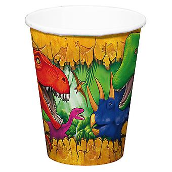 Dinosauro di bicchiere tazza tazza Dino festa compleanno 250ml 6pcs