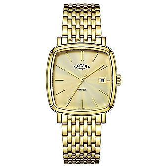 Роторный мужские Виндзор золото PVD покрытием GB05308/03 Часы