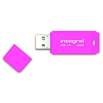USB de 32 Go Integral Neon lecteur Flash USB 3.0 - Rose