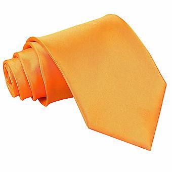 Fluorescent Orange Plain Satin Classic Tie